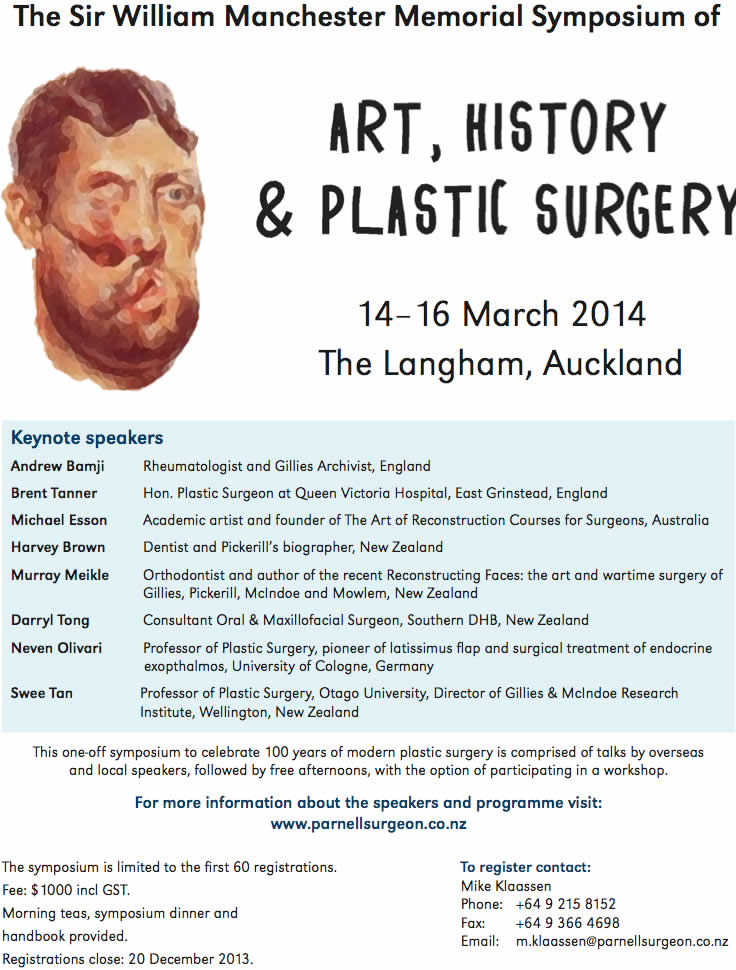 Art, History and Plastic Surgery on the 14th to 16th March 2014 at The Langham, Auckland